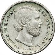 25 cents - Willem III – avers