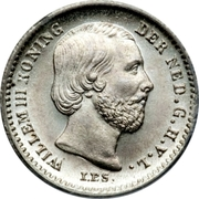 5 Cents - Willem III – avers