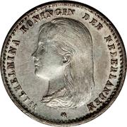 10 centimes Wilhelmina – avers