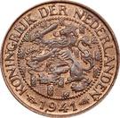 1 cent Wilhelmine – avers
