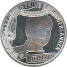 10 euros Couronnement de Willem-Alexander (cuivre plaqué argent) – avers
