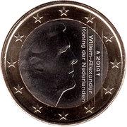 1 euro Willem-Alexander -  avers