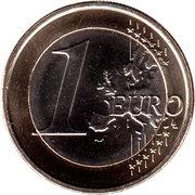 1 euro Willem-Alexander -  revers