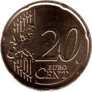 20 cents d'euro Willem-Alexander -  revers