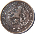 1 cent Wilhelmina (15 gros boucliers) – avers