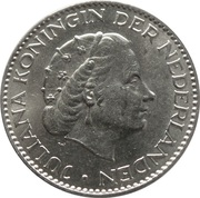 1 gulden Juliana (argent) -  avers