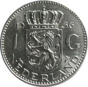 1 gulden Juliana (argent) -  revers