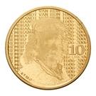 10 euros Rembrandt – revers