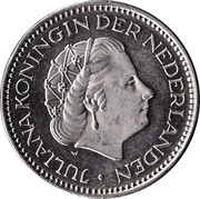 1 gulden Juliana -  avers