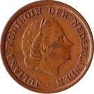 1 cent Juliana – avers