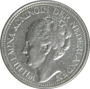 25 cents Wilhelmina – avers