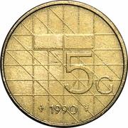 5 gulden Beatrix -  revers