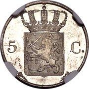 5 Cents - Wilhelm I – revers