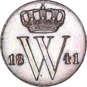 ½ Cent - Wilhelm II – avers
