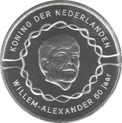 10 euros Anniversaire du roi Willem-Alexander (50 ans, cuivre plaqué argent) – avers