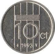 10 cents Beatrix -  revers