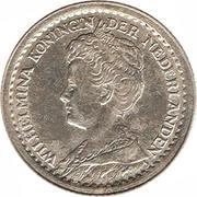 10 cents Wilhelmina – avers