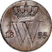 ½ Cent - Wilhelm III – avers