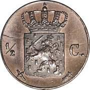 ½ Cent - Wilhelm III – revers