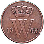 1 Cent - Wilhelm III – avers