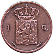 1 Cent - Wilhelm III – revers