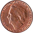 1 cent  Wilhelmina – avers