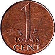 1 cent  Wilhelmina -  revers