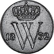½ Cent - Wilhelm I – avers