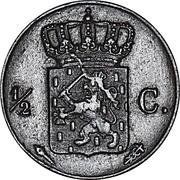 ½ Cent - Wilhelm I – revers