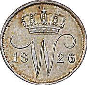 10 cent Wilhelm I – avers