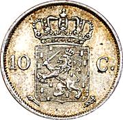 10 cent Wilhelm I – revers