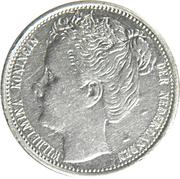 10 cents Wilhelmina (grande tête) – avers