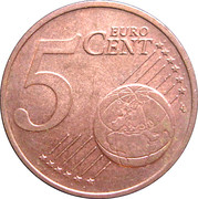 5 cents d'euro Beatrix -  revers
