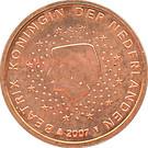 1 cent d'euro Beatrix – avers