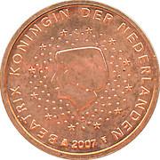 1 cent d'euro Beatrix -  avers
