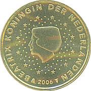 10 cents d'euro Beatrix (1ère carte) -  avers