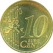 10 cents d'euro Beatrix (1ère carte) -  revers