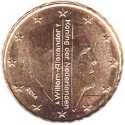 10 cents d'euro Willem-Alexander -  avers