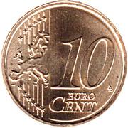 10 cents d'euro Willem-Alexander -  revers