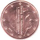 1 cent d'euro Willem-Alexander – avers