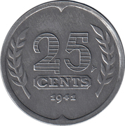 25 cents (occupation allemande) – revers