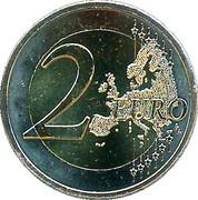 2 euros Érasme -  revers