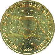 50 cents d'euro Beatrix (1ère carte) -  avers