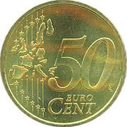 50 cents d'euro Beatrix (1ère carte) -  revers