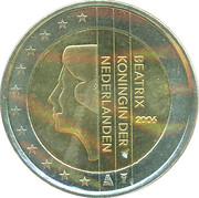 2 euros Beatrix (1ère carte) -  avers