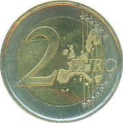2 euros Beatrix (1ère carte) -  revers