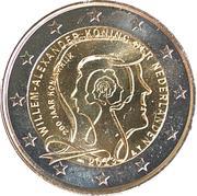2 euros Royaume des Pays-Bas (non colorée) -  avers