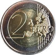 2 euros Royaume des Pays-Bas (non colorée) -  revers