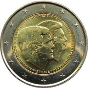 2 euros Double portrait (non colorée) -  avers