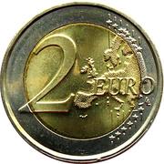 2 euros Double portrait (non colorée) -  revers